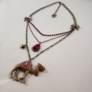 Betsey johnson Moroccon Adventure Camel Necklace